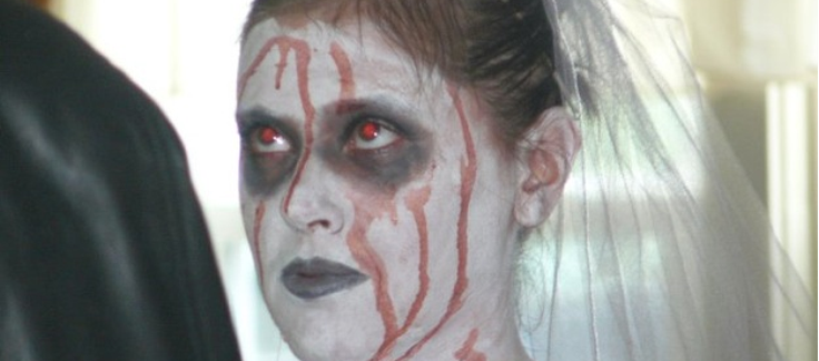 Halloween Wedding with Zombie Bride