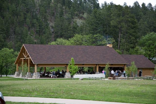 dinner at outdoor wedding
