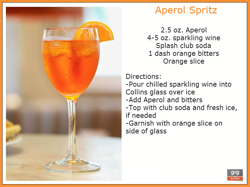 recipe for aperol spritz, drink recipe for party