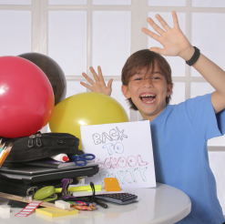 Summer Party Solution: Back to School Kids Birthday Party