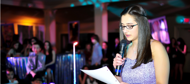 Bold Blue and Purple Bat Mitzvah