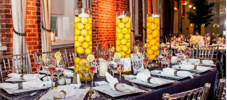 Bright Yellow and Grey Philadelphia Wedding
