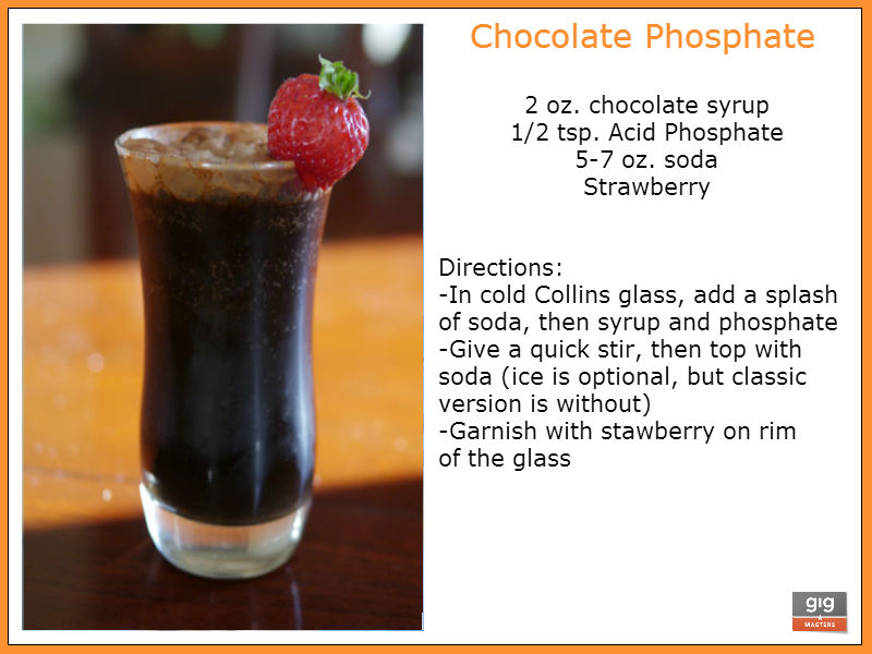 recipe for chocolate phosphate, non alcoholic drink for parties