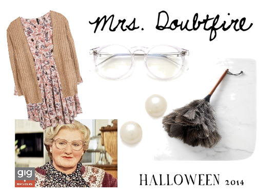 Robin Williams Halloween costume, Mrs. Doubtfire