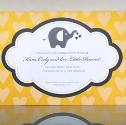 An Elephant Baby Shower with Guest, Bump Smitten