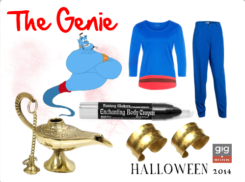 Robin Williams Halloween costume, the Genie