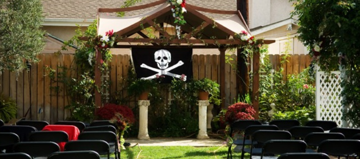 Halloween Wedding with Pirate Theme