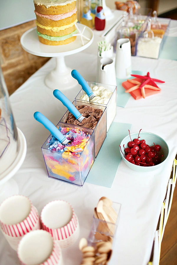 beach themed ice cream bar