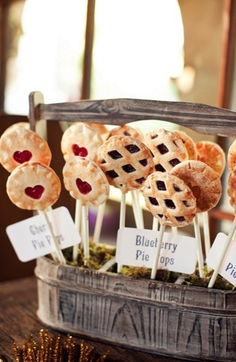 Mini pies on a stick