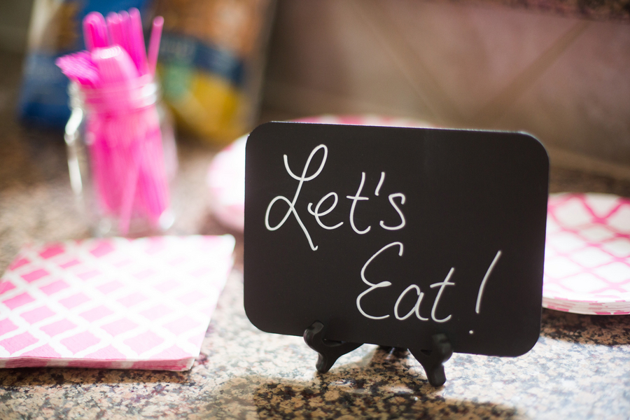 Let's Eat! Chalkboard sign for party food display