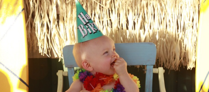 Luau Themed 1st Birthday Party