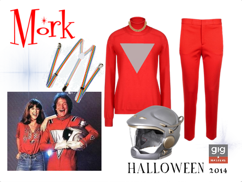 Robin Williams Mork and Mindy Halloween Costume