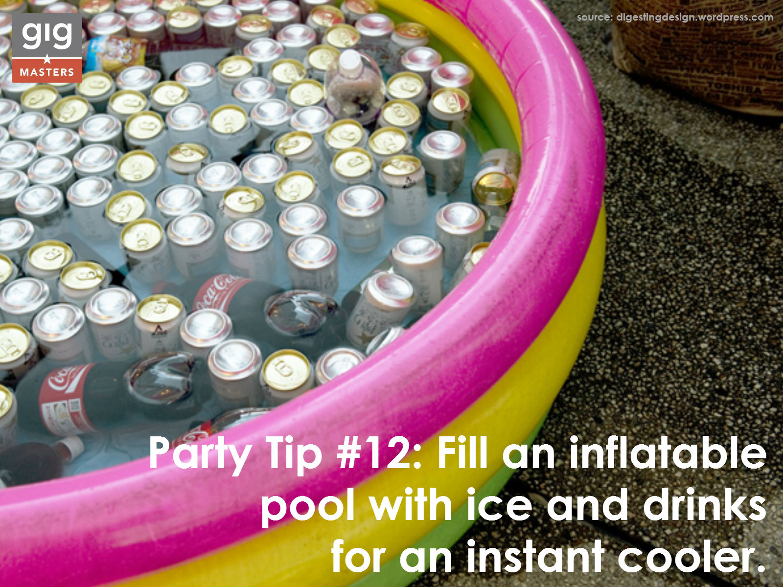 summer party tip - blow up pool cooler