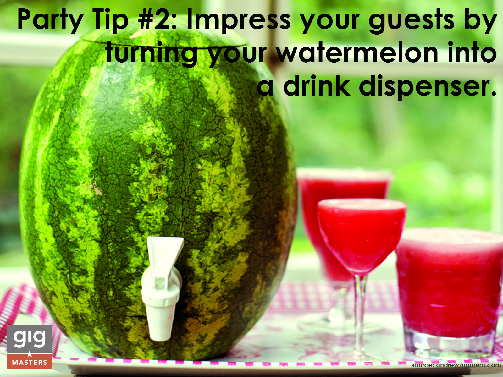 summer party tip - watermelon keg