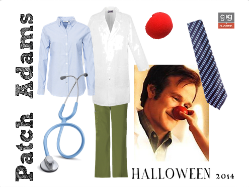 Robin Williams Patch Adams Halloween costume