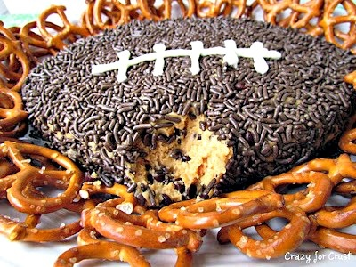 Peanut Butter Chocolate Chip Football