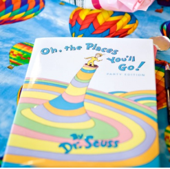 Oh The Places You'll Go Themed Baptism Party