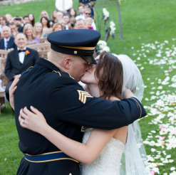 Real Wedding: Charming Military Wedding