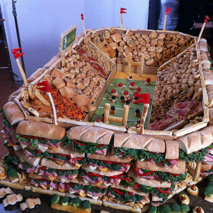 Ultimate snack and sandwich football stadium