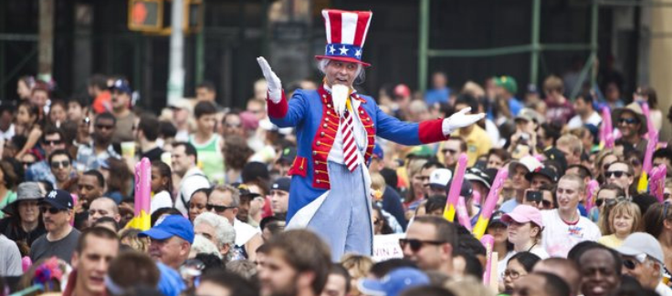 Uncle Sam Visits Fourth Of July Hot Dog Eating Contest
