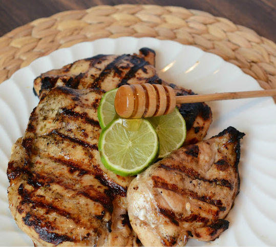 grilled chicken on plate