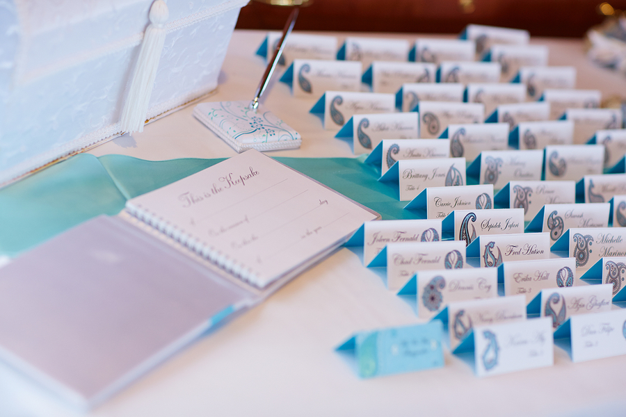 Name cards and guest book