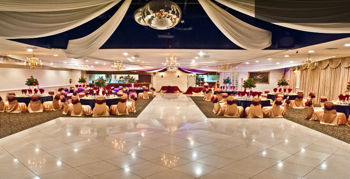 Banquet Hall With Marble Floor