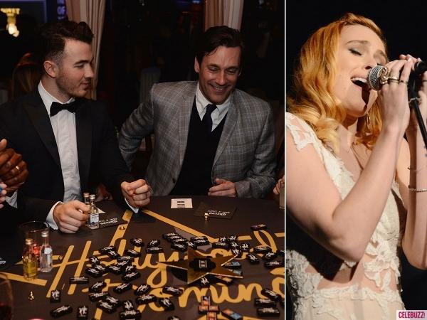 Hollywood Domino 2014: Kevin Jonas and Jon Hamm play dominos, Rumer Willis sings