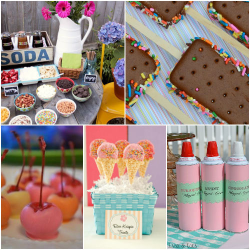 Ice Cream party ideas, food, drinks and decorations