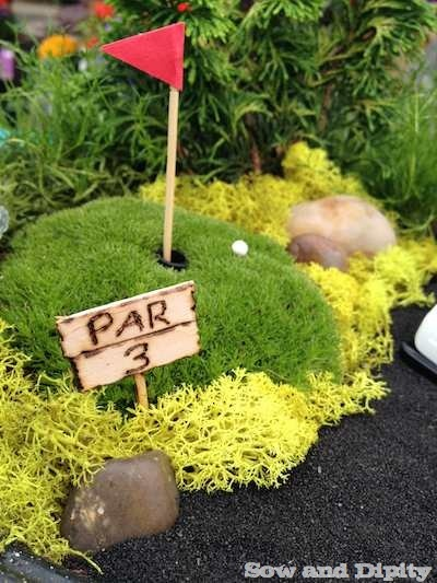 golf garden decoration par 3
