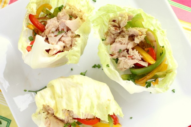 lettuce and tuna wrap