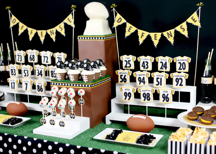 Football Themed Cookie Cakes
