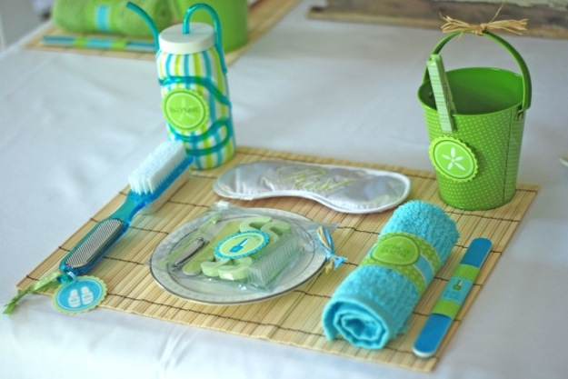 spa theme table setting