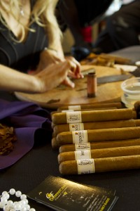 Cigar rolling for casino theme party