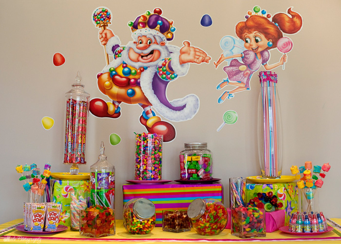 Parties we love classic board game themes - Candyland party table decorations ...