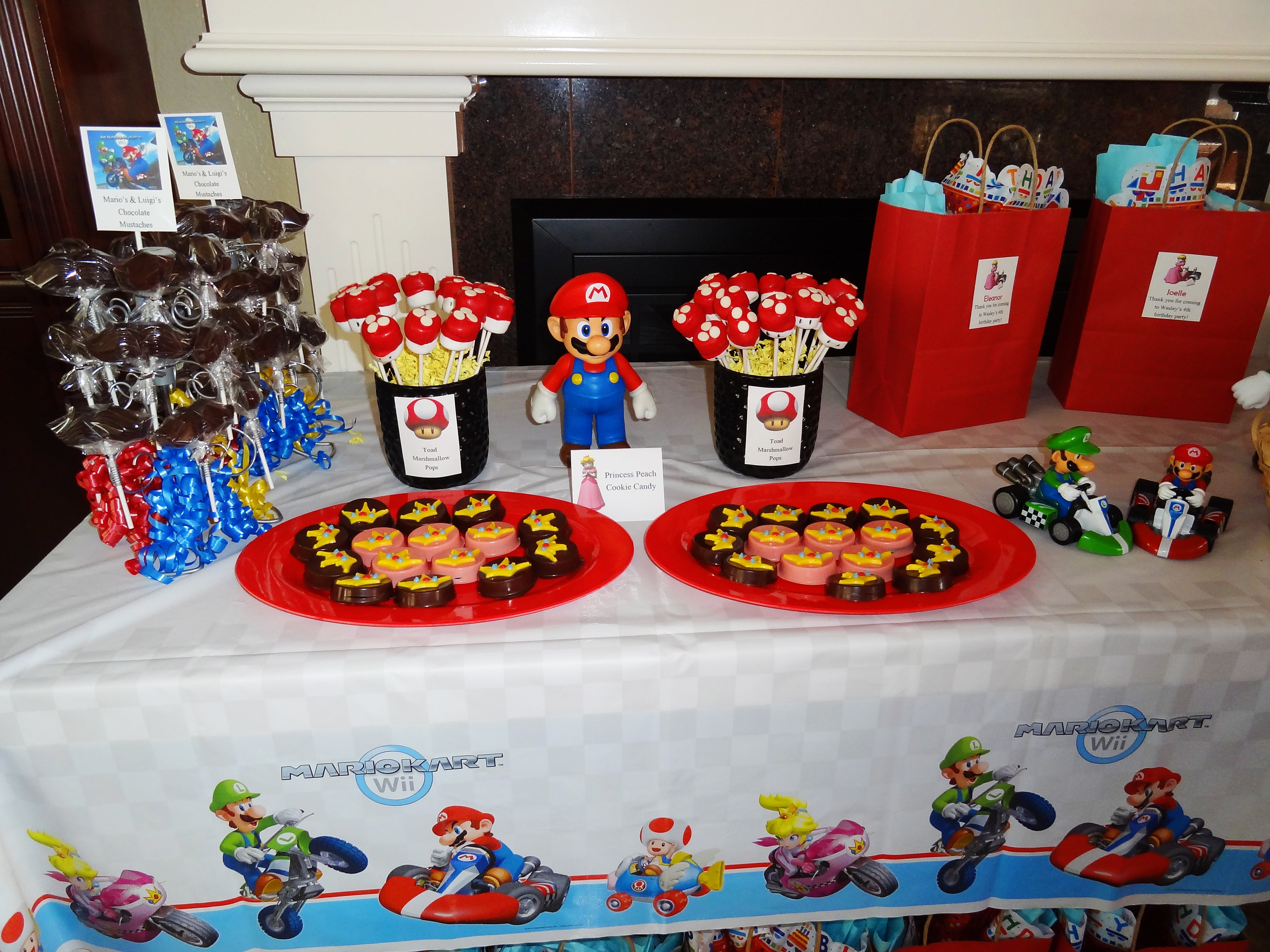 Real event a mario kart birthday party for Number 4 decorations