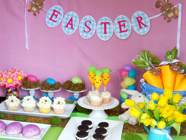 An Affordable Easter Sweets Table With Guest Cupcake