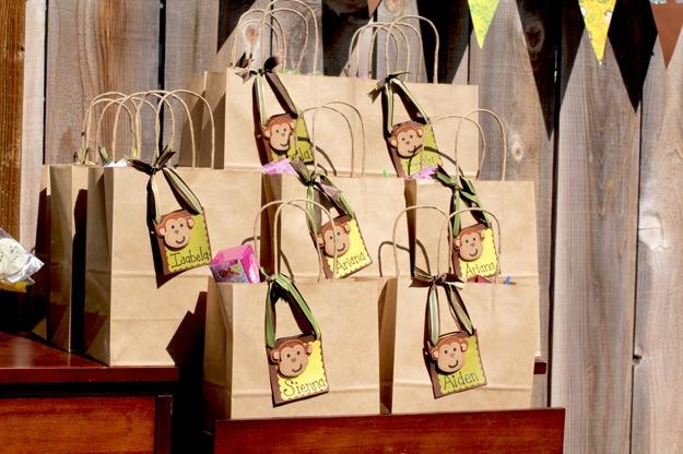 monkey themed goody bags