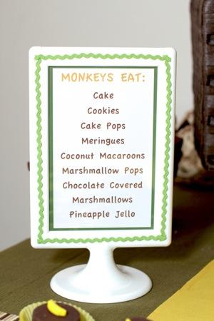 desert menu sign