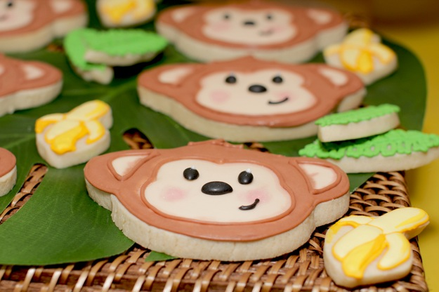 monkey decorated cookies