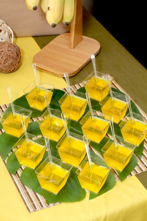 jello squares in yellow