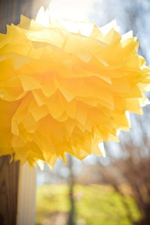 Yellow DIY decoration