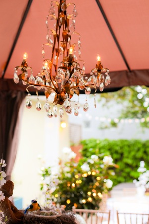 party decoration of antique chandelier