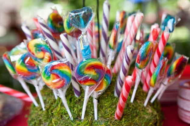 centerpiece with lollipops