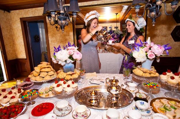 fancy tea party buffet