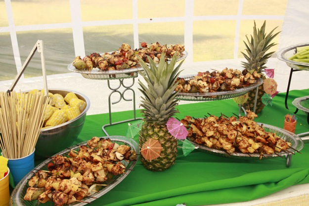 Food for Luau party