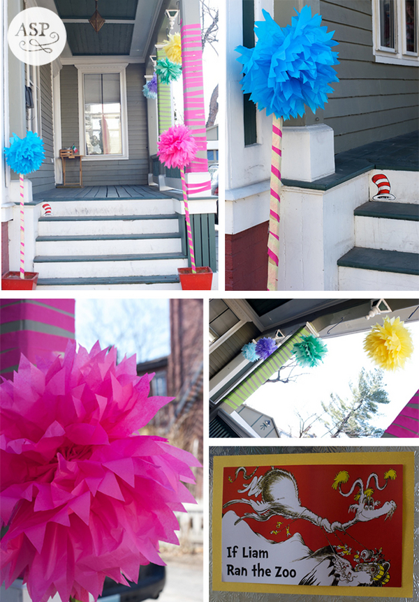 party decorations for Dr Seuss party