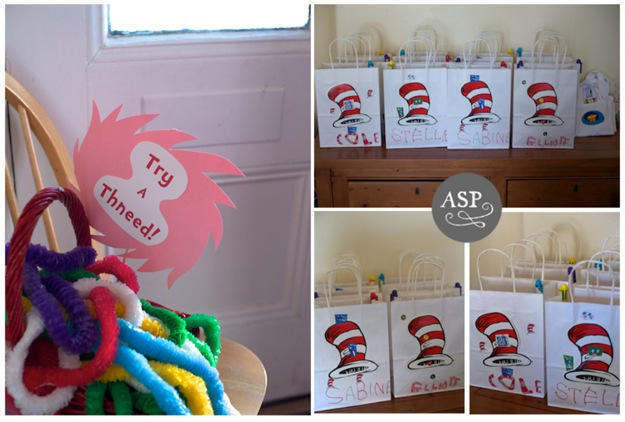 party favor and games for Dr Seuss parties
