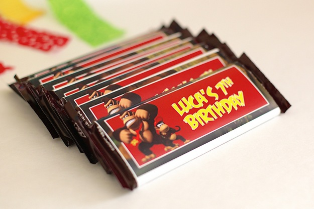 candy bars with Donkey Kong wrapper