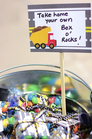 construction themed party favors